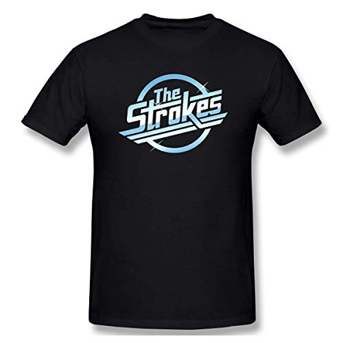 Pimkly Camisetas y Tops,Polos y Camisas, The Strokes Logo Print Short Sleeve T Shirt for Men and Women