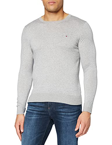 Tommy Hilfiger 867896625100 - T-shirt - Uni - Manches courtes - Homme - Blanc (Classic White) - Small (Taille fabricant: S)