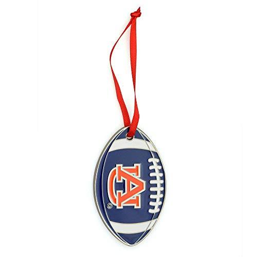 Collegiate Pulse Auburn Tigers NCAA Metal Football Christmas Ornament Tigers