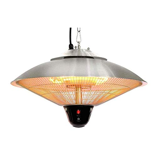 Patio Heater, Indoor Outdoor Garden Halogen Heater, Ceiling Mounted Umbrella-Shaped Heater for Balcony Courtyard, with Remote 2100W