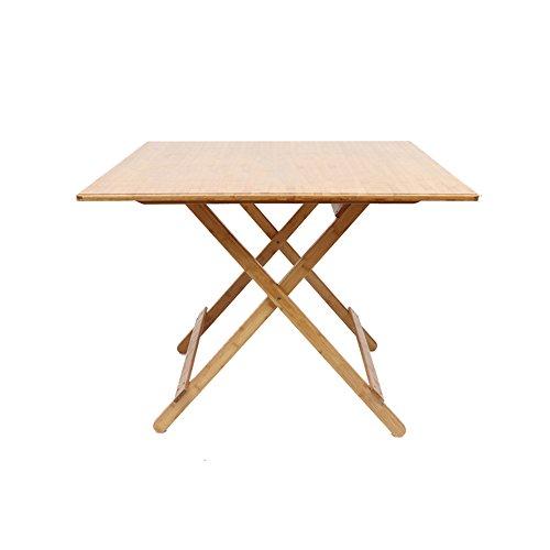 Table HAIZHEN - Station de Travail pour Ordinateur - Pliable - pour Salle à Manger - Portable - Taille en Option, Bois Dense, 100 * 77CM