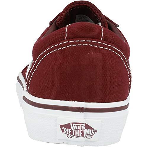 Vans Ward Canvas Sneaker Unisex - Bambini, Rosso (Canvas) Port Royale/White 8j7), 34 EU