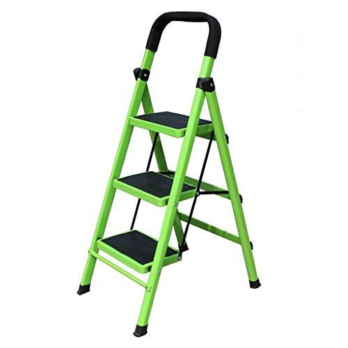 LRZLZY 3-Stufenleiter, Klapptrittschemel, Haushalt Küche Stehleitern, Heavy Duty Stahl, Anti-Rutsch-und Gummi-Handgriff, 150kg Kapazität (Color : 3-Step)