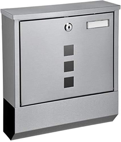 e-Best Design Briefkasten mit Zeitungsfach; Edelstahl Postkasten