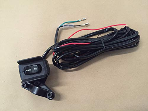 A.A 12V Winch Rocker Thumb Switch with Mounting Bracket - Handle Bar Control Switch (Compatible with All Warn, Badland, Viper, Runza, Venom, Eagle, Champion)