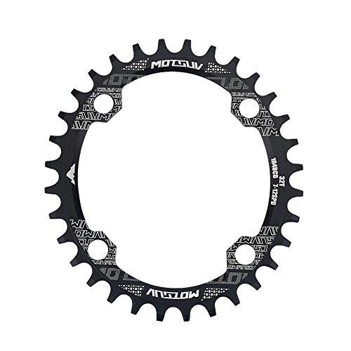 Corona per Bicicletta, Corona Singola Ovale 32/34 / 38T per Mountain Bike BCD 104mm(32T)