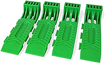 BA Products New Improved Wreckmaster 48-701135 Green Interlocking Wreckmaster Tire Skates (Set of 4) for Rollbacks, Flatbeds, Carriers, Wreckers, Tow Trucks