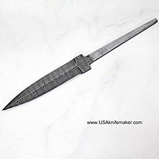 Dagger Hidden Tang SD9 - Ladder Pattern Damascus