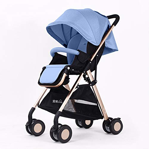 Review DZFZ Baby Stroller Ultra Light Portable Can Sit Reclining Folding Simple High Landscape Child...