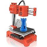 mlloaayo 3Dプリンター 3Dプリンタ 本体 超高精度 ミニ3Dプリンター 金属製 小型軽量 組立簡単 静音設計 家庭用 商業用印刷 子供/初心者/学生教育/手作り愛好家に適し 日本語説明書 (Orange)
