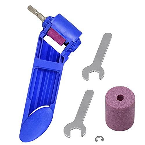 GJCrafts Broca, sacapuntas corindón, herramienta de afilado de diamante para alta dureza, afilador diamante portátil, herramienta de mano (azul)