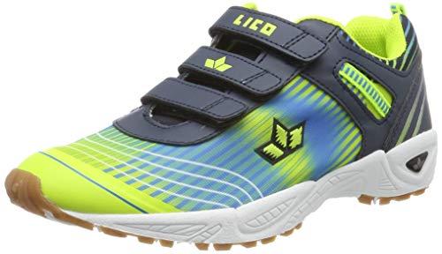 Lico Unisex-Erwachsene Barney V Multisport Indoor Schuhe, Blau (Marine/Blau/Lemon Marine/Blau/Lemon), 41 EU