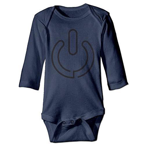 MSGDF Unisex Infant Bodysuits Close Sign Baby Babysuit Long Sleeve Jumpsuit Sunsuit Outfit Navy