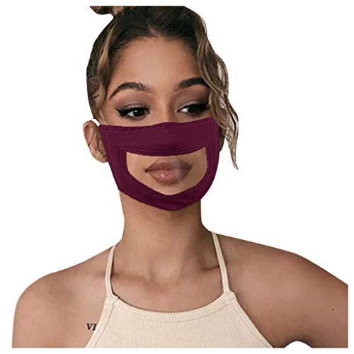 Dust Mouth Cover - Reusable Smile Dog Printed Face Mask Headband Adjustable Balaclava Masks for Outdoor