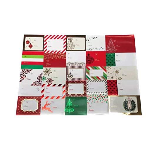 Elise 12 Vellen Stickers Zelfklevende Kerstmis Naam Tags Gift Etiketten Afdichting Stickers voor DIY Gift verpakking