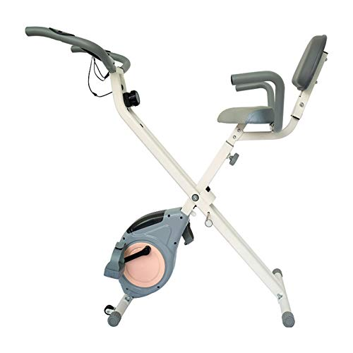 GRTBNH Indoor-Heimtrainer, stationäres Spinning-Bike mit magnetischem Widerstand, verstellbarem Sitz und Transportrad, Fitness-Bike für den Home-Office-Einsatz,Blau