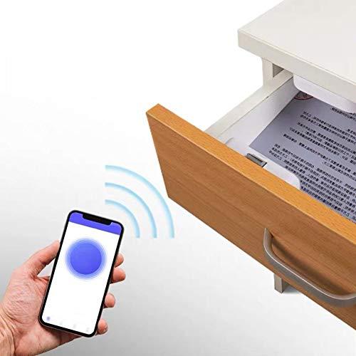 Smart Schubladenschloss, App Bluetooth unsichtbare Aktenschrank-Schloss, Elektronische Kabellose Sicherheitsschloss, für Briefkasten, TV/Schuhe/Schreibtisch Schrank, weiß, Free Size