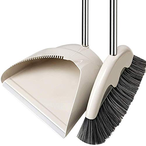Review Zichen Long Handle Soft Brush Head Dustpan Broom Set Indoor Use (Color : Green, Size : 99x32c...