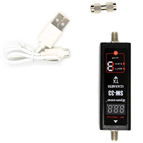 WOVELOT SW-33 MarkII 125-520 Mhz Digital VHF/UHF Medidor de EnergíA y SWR Contador Tester para Walkie Talkie/Radio Bidireccional Enchufe de la UE