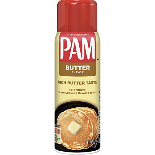 PAM Butter Cooking Spray, Keto Friendly, 5 Ounce
