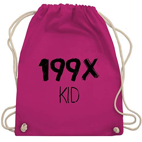 Shirtracer Statement - 199X KID - Unisize - Fuchsia - turnbeutel statement - WM110 - Turnbeutel und Stoffbeutel aus Baumwolle