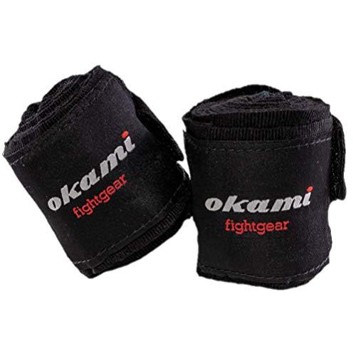 OKAMI Fightgear Kinder Handbandagen - 1,50m - Boxbandagen MMA Boxen Bandagen Wickelbandagen Boxen Muay Thai für Kids Kinder Jungen Mädchen