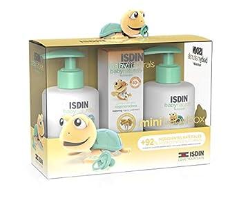 ISDIN Baby Naturals Canastilla Mini, Gel Champú 200 ml, Loción Corporal 200 ml y Pomada Pañal Regeneradora 20 ml, apto desde los 0 meses