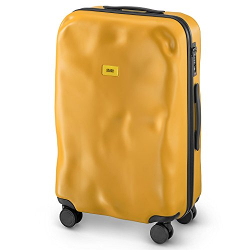 Carsh Baggage - Trolley Icon Line - Mittleres Gepäck - 4 Räder - 65 Liter (Yellow)