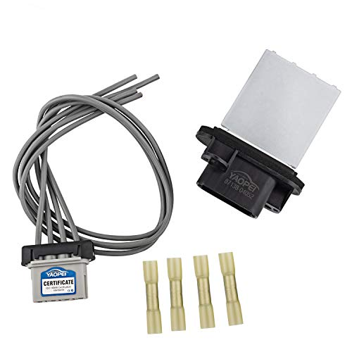 YAOPEI HVAC Fan Blower Motor Resistor Kits for 2005-2018 Toyota Tacoma with Plug Wiring Harness Replace 87138-04052 973-582