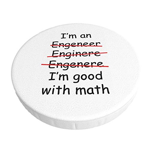 Soy un Ingeniero Soy Bueno en matemáticas Funda de cojín para Silla de Barra Redonda Lavable extraíble Funda elástica para cojín de Taburete de 14 Pulgadas