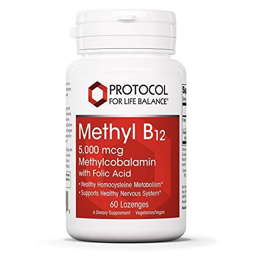 Protocol Methyl B12 5,000mcg - Vitamin B12, Folic...