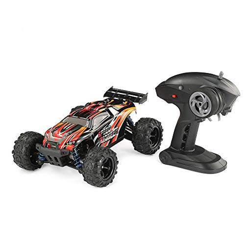 ELVVT 1/18 4WD RC Off-Road Car 40 km/h High Speed Remote Control Pioneer Cross Country Climbing Racing Truck RTR speelgoed for kinderen Christmas Birthday Present (Color : Orange)