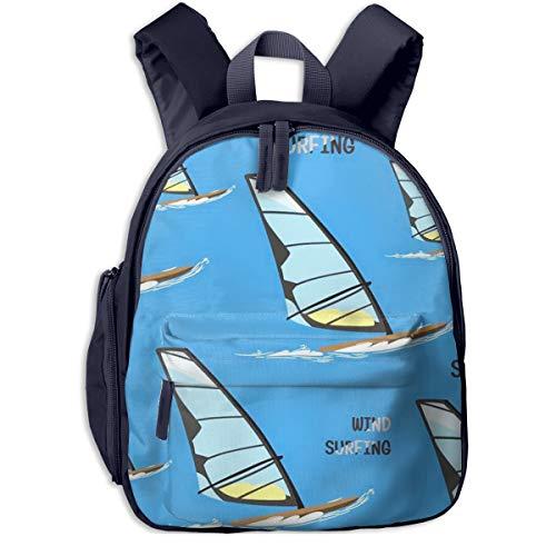Mochilas Infantiles, Bolsa Mochila Niño Mochila Bebe Guarderia Mochila Escolar con Tablas de Surf Windsurf para Niños De 3 a 6 Años De Edad