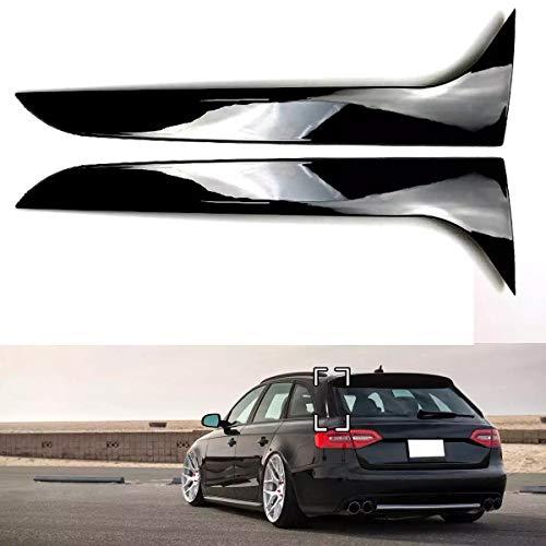 JYCX Glanz Schwarz Hinten Fenster Seite Spoiler Flügel Für Audi A4 B8 Allroad Avant 2009 2010 2011 2012-2016 Auto-Styling Auto Zubehör