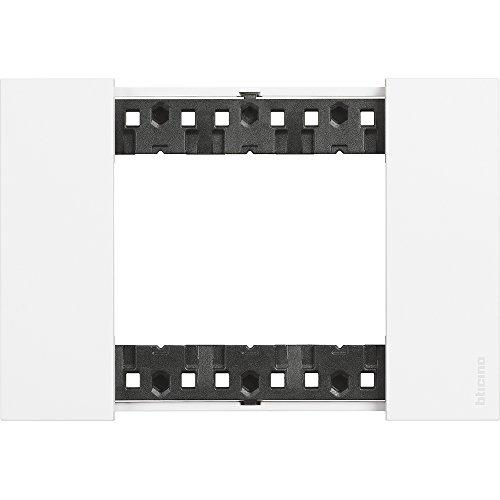 Bticino KA4803KW Living Now - Placca 3 Moduli, Bianca, 120 x 50 x 10 cm