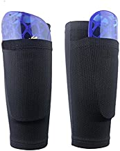 Soccer Shin Guard Sock, Leg Performance Support Football Compression Calf Sleeves with Pocket Can Holding Shin Pads, Comfort Breathable Youth Soccer Shin Guard Socks for Beginner or Elite Athlete