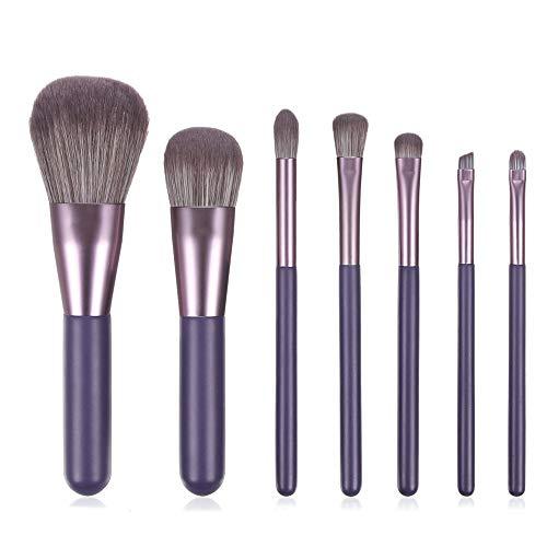 7 unids mango de madera pinceles de maquillaje conjunto sombra de ojos ceja polvo Fundación maquillaje cepillo kit cosmético 05