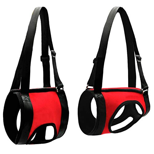 Dog Lift Harness Comfortable Dogs Front Carrier Lift Harness Support Injured Old Arthritis Dogs,Red,L
