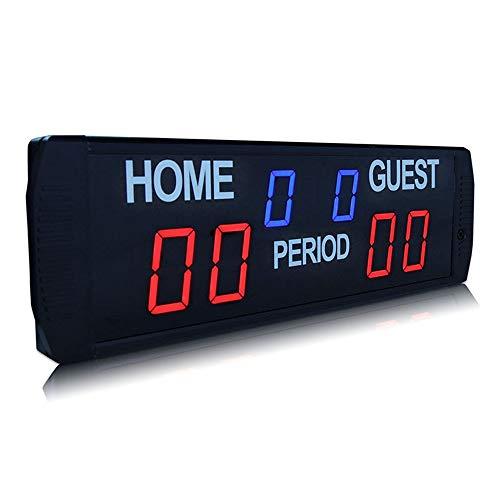 DYecHenG Temporizador de intervalo Cronómetro Reloj de Pare Champion Sports Timer Multi-Sport Mesa Cubierta Marcador Electrónico con Control Remoto Incluido para escuelas de Clubes de gimnasios
