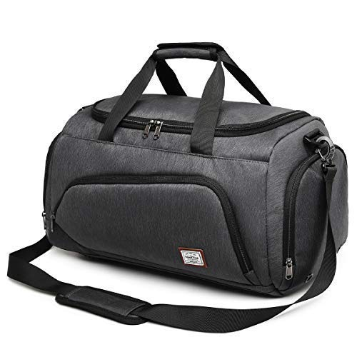 Wind Took Foldable Sports Bag Fitness Bag Travel Bag Gym Bag Duffel Bag Bags Men Women with Shoe Compartment for Travel Sports Gym Holiday Fitness, Black , 8839