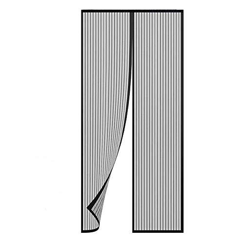 TRIXES Puerta mosquitera magnética Negra-Panel Cortina