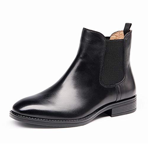 QCBC Chelsea Boots Mujer Cuero Otoño Invierno Tobillo Zapatos Hecho a Mano Cómodo y Suave Suela de Goma Antideslizante 39 EU