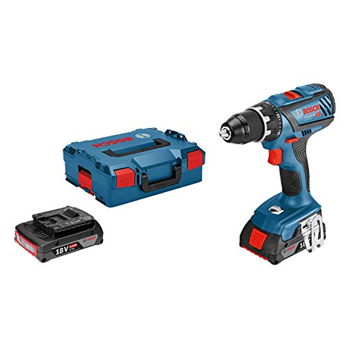 Bosch Professional perceuse-visseuse Sans-Fil GSR 18V-28 (2 batteries 2,0 Ah,18 V, ∅ de vissage maxi : 8 mm, L-BOXX)
