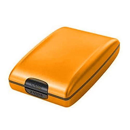 USNASLM Cartera de aluminio de bloqueo de tarjeta de crédito caso duro cartera de tarjeta de crédito anti-escaneo proteger titular de la tarjeta de los hombres monedero Dropship