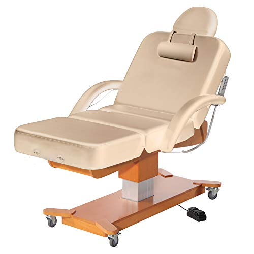 Master Massage Maxking Deluxe 4 Section Electric Lift Spa Salon Stationary Table, 30', Beige