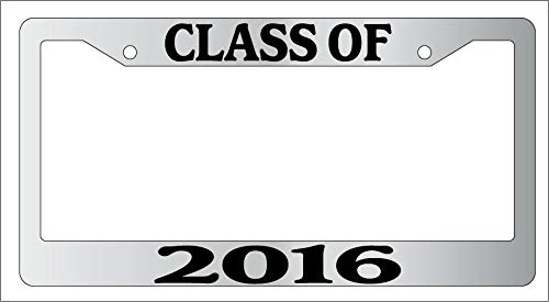 License Plate Frames, METAL License Plate Frame CLASS OF 2016 Auto Accessory -675 Applicable to Standard car Unisex-Adult Car Licenses Plate Covers Holders Frames for Plates 15x30cm