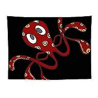 タコの赤 Red 章鱼 壁掛け タペストリー コットン製 大判 多機能 インテリア 装飾用品 壁飾り 家 リビングルーム ベッドルーム 部屋 個性ギフト おしゃれ飾り