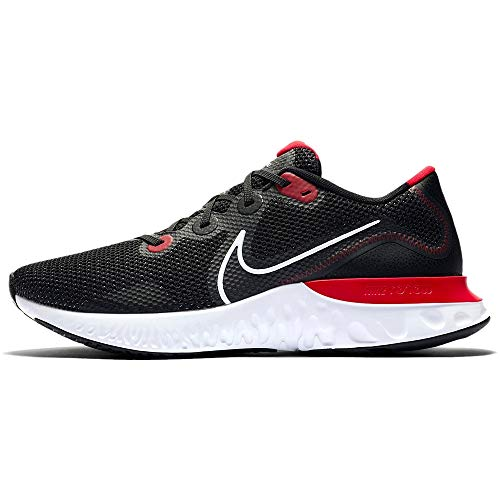 Nike Herren Renew Run Leichtathletik-Schuh, Black/White-University Red, 45 EU