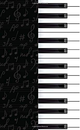 Notebook: Piano Keyboard (Small 5x8, College Ruled)