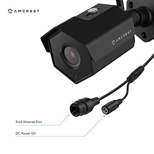 2-Pack Amcrest 4MP IP Camera WiFi UltraHD Wireless Outdoor Security Camera Bullet - IP67 Weatherproof, 98ft Night Vision, 4-Megapixel (2688 TVL), 2PACK-IP4M-1026B (Black)